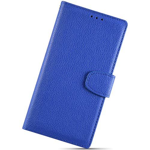 Custodia Compatibile con Huawei Mate 10 Lite Cover KunyFond 3D Pelle Portafoglio PU Cuoio Design Litchi Goffratura Fiore Serie Lusso Vintage Dipinto Flip Copertura Donna Ragazze Supporto Bumper,Blu
