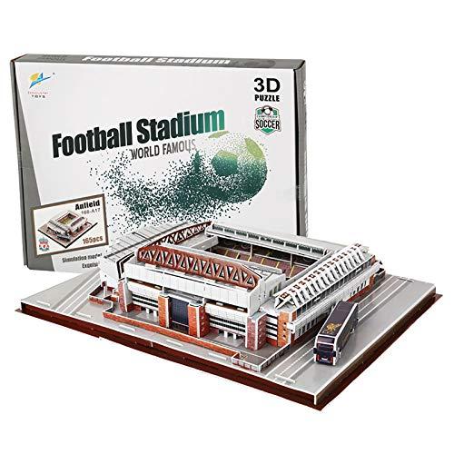 Papier 3D-Rätsel , Stadionbausätze 3D-Konstruktionsspielzeug-Modellbausätze, Lernspielzeug für Kinder und Erwachsene, Geschenk für Jungen und Mädchen A2