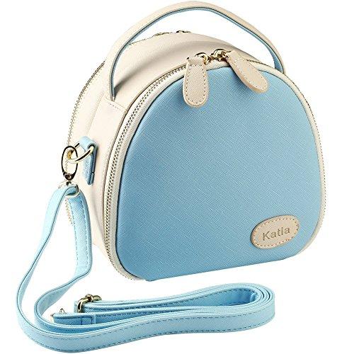 Katia Instax Mini 9 Taschen Reißverschluss Universal Kameratasche Kompatibel mit Fujifilm Instax Mini 8/70 / 25 / 50s / 90/26 Kamera und Zubehör mit Schultergurt (Blue)