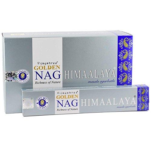 Vijayshree Golden Nag Himaalaya Confezione da 12 scatole