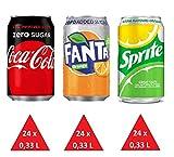 XXL Zuckerfrei Paket: (24 x Coca Cola Zero 24 x Fanta Zero, 24 x Sprite No Sugar) 72 Einweg-Dosen 0,33 L
