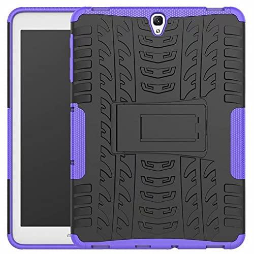 TTYYNN Custodia per tabletGuscio del supporto per Samsung Galaxy Tab S3 SM-T820 SM-T825 Custodia da 9,7 pollici Custodia protettiva in silicone antiurto per tablet Funda pen, viola