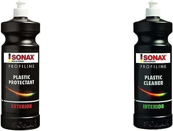 Sonax 210 300 Profiline Plastic Protectant Exterior 1 Liter Hochwirksame Silikonfreie Kunststofftiefenpflege Für Unlackierte Kunststoffteile Art Nr 2103000 Auto