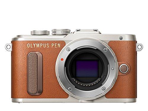 """Olympus PEN E-PL8 - Cámara de 16 MP (pantalla táctil abatible de 3"""", estabilizador, vídeo FullHD, WiFi), Marrón - solo cuerpo"""