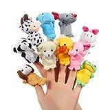 ThinkMax Fingerpuppen Baby, 10 Stück Fingerpuppen Tiere Set für Baby und Kinder…