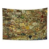 清明節のヴィンテージ中国風タペストリー壁掛け川油絵ビーチタオル寝室の装飾150cmX130cm