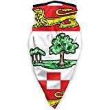 ECNM56B Bandera canadiense de la Isla del Príncipe Eduardo, cubierta facial, polainas para el...