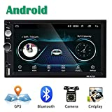 Android Autoradio 2 Din GPS CAMECHO Touchscreen capacitivo da 7 pollici Bluetooth WIFI USB...