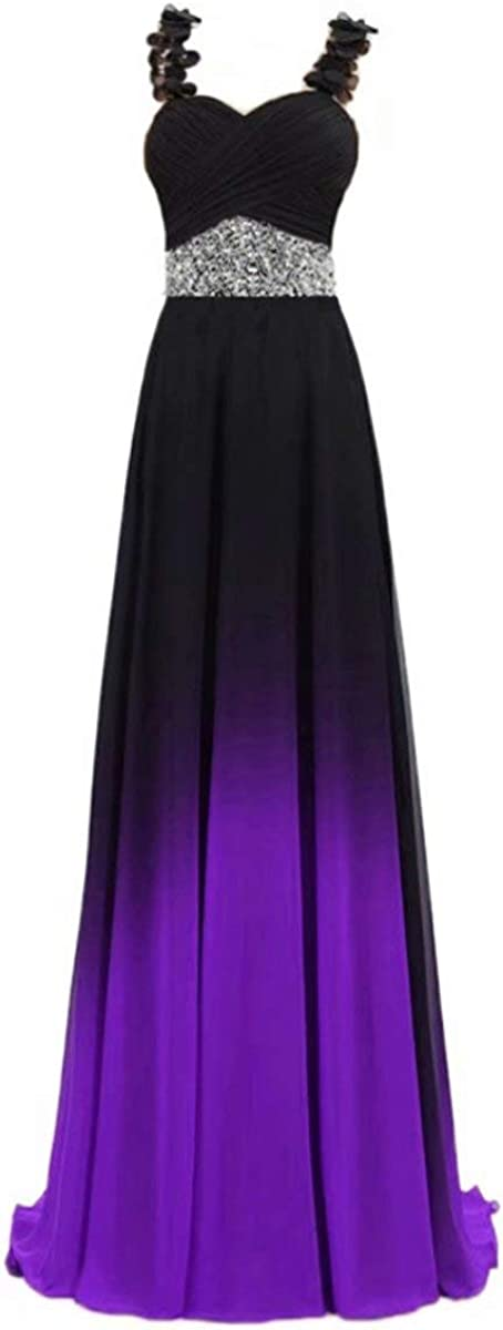 Beilite Women's Top Deluxe Gradient Same day shipping Evening Prom A Line Gowns