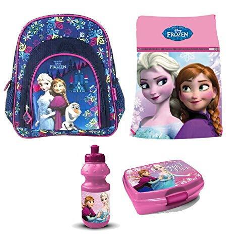 Frozen Eiskönigin Disney 4 Teile Set Rucksack Tasche Kindergarten Kindergartenrucksack mit Sticker von Kids4shop