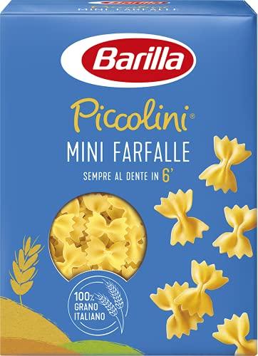 Barilla Pasta Mini Farfalle Piccolini, Pasta Corta di Semola di Grano Duro 100% Italiano, 500 gr