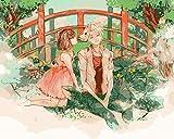 ZXlDXF Pintura por números para adultos Anime Pareja DIY Pintura por Números Kits sobre lienzo 40,6 x 50,8 cm