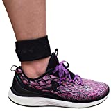 Adjustable Ankle Band with Snaps Closure for Men and Women, Compatible with Fitbit Blaze Fitbit Charge 2/3/4 Fitbit Zip Fitbit Inspire HR or Garmin Vivofit/2/3/4 (Black, X-Large)