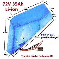 ZYL-YL グレートポリゴン72V 35ah 72V 3000W電動バイクキット72V 2000W三角形のバッテリーパック20Ah三輪車の車椅子+充電器 (Color : With 40A BMS)