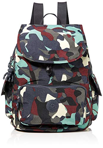 Kipling City Pack S, Women's Backpack, Multicolour (Camo Large), 27x33.5x19 cm (B x H T)
