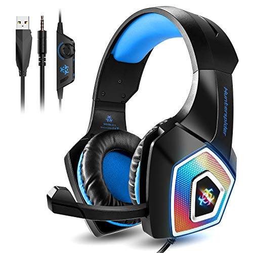 GaloparGaming Headset, Xbox One Headset with Mic, Noise Canceling Over Ear Headphones with Surround Sound, PS4 Headphone with LED Light, Compatible with PC, PS4, Xbox One, Nintendo Switch, Mac