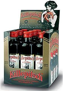 9 Flaschen Killepitsch Minikasten a 0,10L Orginal Taschenflaschen