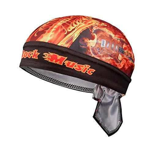 Asudaro Gorra unisex de pirata, para equitación al aire libre, pañuelo para la cabeza, gorro para bicicleta, protección UV, pañuelo pirata, gorro para correr, gorro funcional, Diseño 7, Talla única