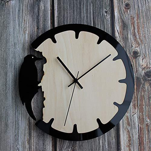 JYCTD Reloj De Pared Vintage, Moda Simplicidad AcríLico Madera Carpintero Creativo DIY Silencio Sin Hacer Tictac DecoracióN Regalo para Sala Estar Dormitorio Cocina Oficina Casa