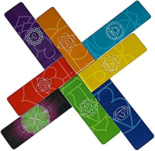 Chakra Magnetic Bookmarks for Journal, Planner or Calendar with Information About The Seven Chakras (Energy Centers) and Benefits of Balanced Energy in Our Body (Set of 8)