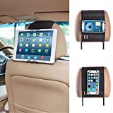 TFY Soporte para Reposacabezas de Coche para Teléfonos Inteligentes y Tablets-Fire phone iPhone 6/6S&iPhone 6/6S Plus - iPad & iPhone 4/5 Samsung Galaxy cell phone and Tab - Nexus 5 / 7 / 10 - HTC Desire / Butterfly / One (Max & Mini)