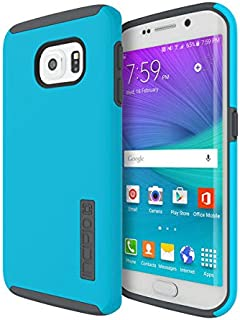 Incipio Dualpro Hard Shell Case with Silicone Core for Samsung Galaxy S6 Edge - Retail Packaging - Neon Blue/Charcoal