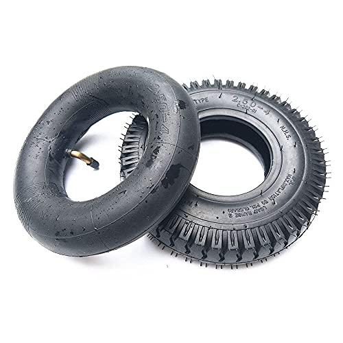Neumáticos para patinetes eléctricos,neumáticos Antideslizantes Resistentes al Desgaste 2.50-4,adecuados para Accesorios para patinetes/carritos de Ancianos de 8 Pulgadas,neumáticos Opcionales,interi