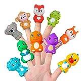 Animales Marionetas del Dedo 10 Piezas de PVC Coloridas Historias de la marioneta del Partido de la demostración para la Enseñanza favores para los niños