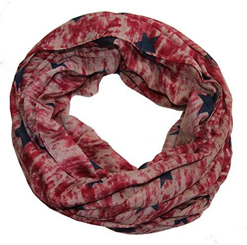 outlet-king–Sciarpa da donna Loop, Batik, Red XX-Large