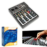 Professional 4/7 Channel Live Studio Audio Sound USB Compact Mixer Mixing Console (4 Channel)