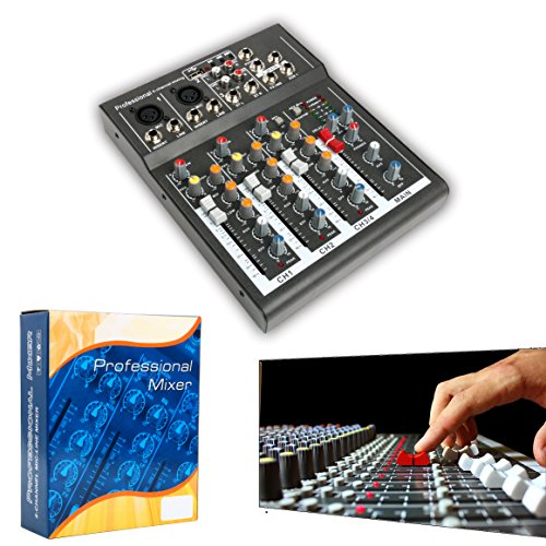 Review Professional 4/7 Channel Live Studio Audio Sound USB Compact Mixer Mixing Console (4 Channel)