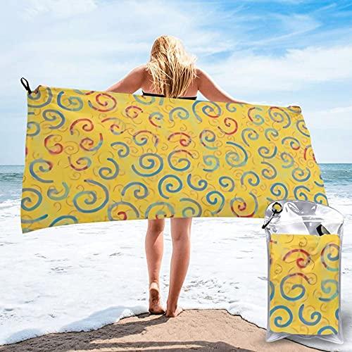 mengmeng Primarios rizos Toalla de secado rápido para deportes, gimnasio, viajes, yoga, camping, natación, súper absorbente, compacta, ligera, toalla de playa