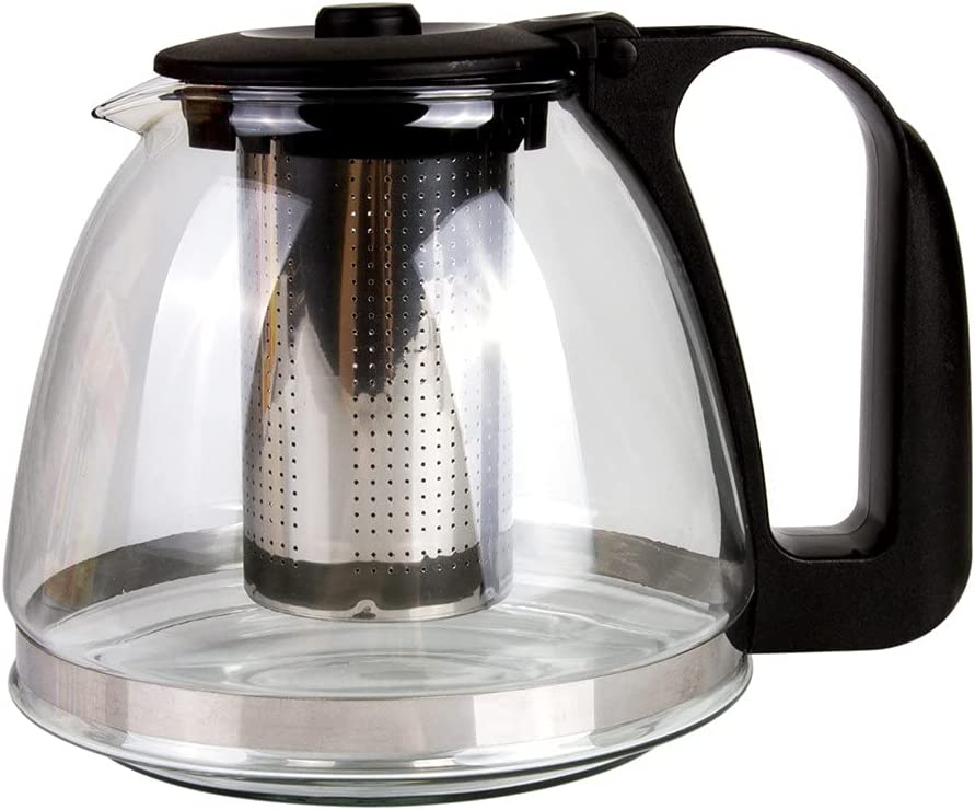 Tea Brewer Max 71% OFF Glass Teapot with Infuser Teapo 24 oz New life 0.7 L Kitchen