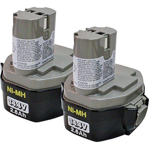 Makita 194157-8 1434 14.4-Volt 2-3/5-Amp Hour NiMH Pod Style Battery, 2-Pack