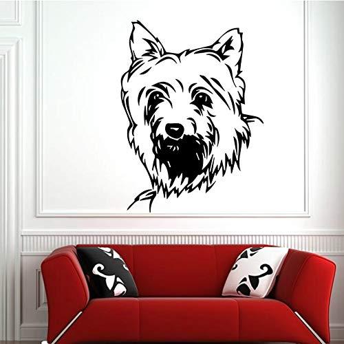 Sanzangtang Modevinylmuursticker van de leuke karikatuurhuisdierhond modern voor woonkameruitgangdecoratie-accessoires kunstmuurschilderijen