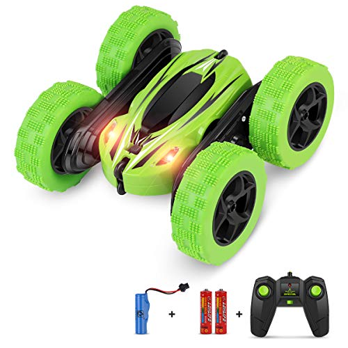 BIFYTON Remote Control Car, RC Car Remote Control Stunt Car Double Sided Rotating Tumbling 360° Flips, Rc Truck with Led Headlights, 4WD 2.4Ghz Off-Road Racing Vehicles for Kids