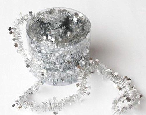 Bright Ideas Tinsel Garland in Dispensing Drum Cut to Length 10m Silver Ref BI0521