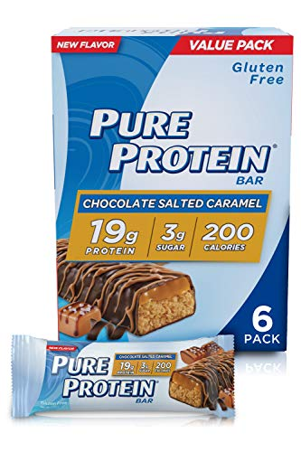 Pure Protein Bars High Protein Nutritious Snacks to Support Energy Low Sugar Gluten Free Chocolate Salted Caramel 176oz 6 Pack