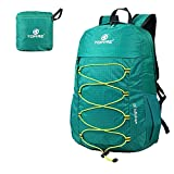 TOFINE Large Hiking Travel Camping Gear Light Weight Foldable Waterproof Portable Backpack 25 Liter Tiffany