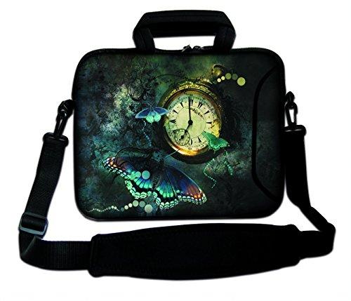 DCCN 17 Zoll / 17,3 Zoll Laptoptasche Neopren Notebooktasche mit Zubehörfach und Schultergurt