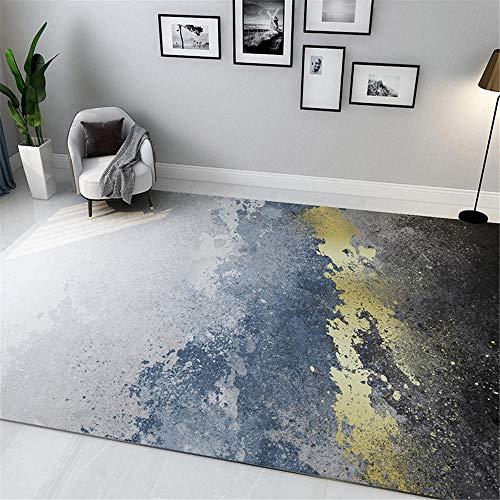 Alfombra Pelo Insonorizar Moderno Minimalista Gris Oro Negro Salpica Diseño Abstracto Habitacion Comedor Pasillo para Mesa Pie De Cama Jarapas 160X230cm
