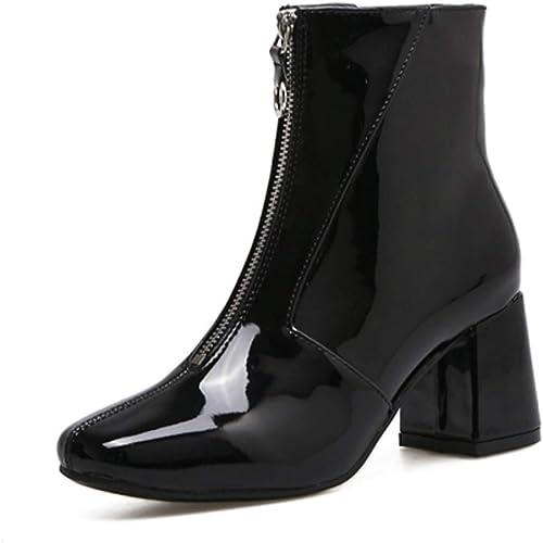 ZHRUI Bottes Chelsea Chelsea à la Mode pour Femmes à Talons Bas (Couleuré   Noir, Taille   5.5 UK)  design simple et généreux