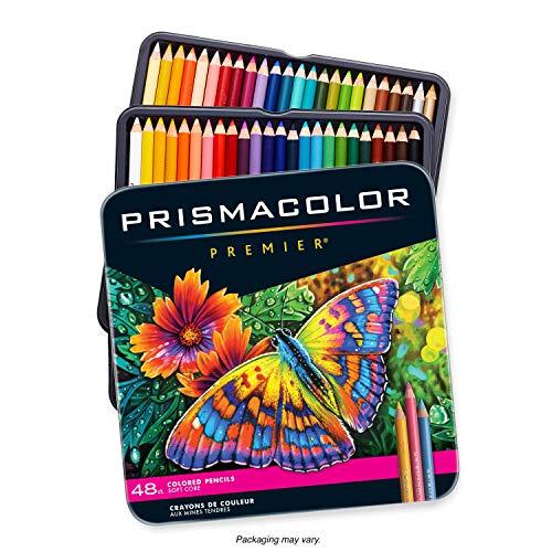 Sanford Prismacolor Premier Color matita impostato 48/Tin-W/Due Bonus Artstix