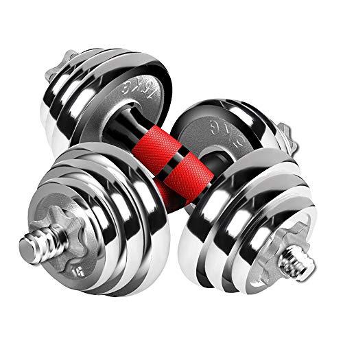 ARTF Ajustable Propósito Pesas-galvanoplastia desmontable con barra mancuernas dual for el entrenamiento de fuerza, Barra for pesas Ejercicio Fitness Equipment Pérdida de Peso Salud de pesas aptitud d