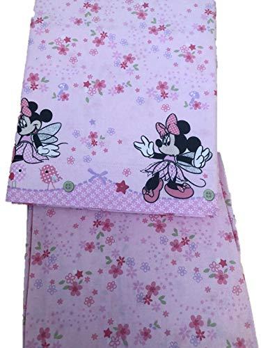 Lenzuola Minnie Disney Caleffi Minnie Fairy Culla Lettino Doghe Rosa