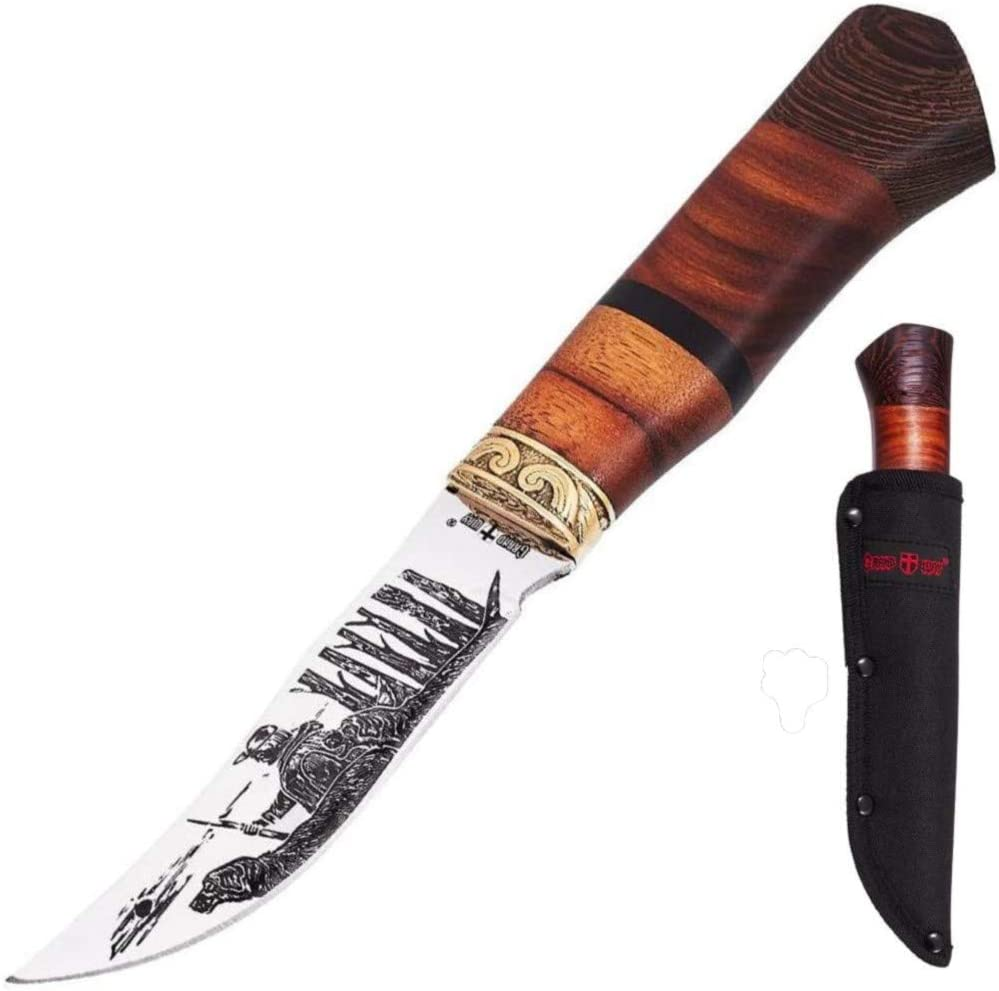 Hunting Knife quality assurance Survival Knives with Engraved sold out Sheath Fixed Blade -