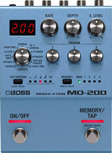 BOSS Md-200 Modulation Guitar Pedal, Sound Quality with 32-Bit Ad/Da, 32-Bit Floating Point Processing, And 96 Khz Sampling Rate
