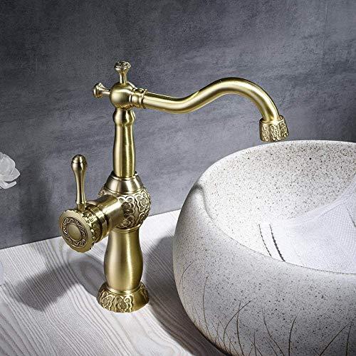 KANJJ-YU Utilice una manija de baño mezclador grifo viejo grúa alta calidad caliente frío grifo decorativo cromo