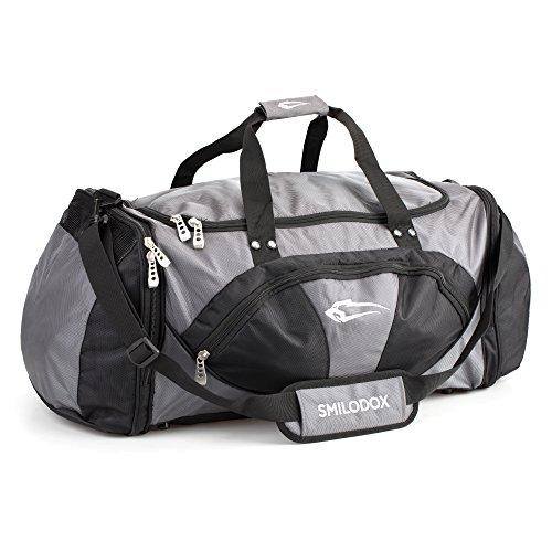 Smilodox Premium sporttas, ideaal voor fitness, sport en reizen, trainingstas met veel vakken, draagriem & schouderriem, gymtas, reistas, grote tas