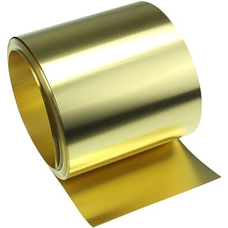 sourcing map Brass Sheet Roll Metal Foil Plate 1000mm x 100mm x 0.1mm 2pcs